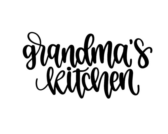 Grandma S Kitchen Svg File Cricut File Diy Kitchen Apron Etsy