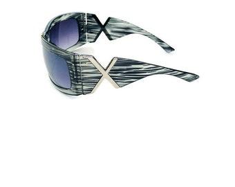 cef4012bf4a 2000s sunglasses large wrap around rectangular X sunglasses