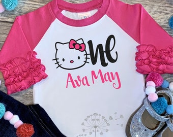 Hello Kitty Birthday Shirt First Personalized