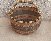 African Basket Straw bag Large storage basket Antique Baskets Personalized Easter basket