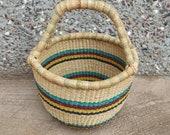 Small storage Basket Bolga Basket Baby gift basket Bolga market basket Birthday Gift Basket Antique Baskets African Basket