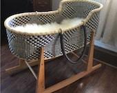 Moses basket Baby bassinet Baby nest Baby Moses basket Infant Lounger Nursery decor Bolga basket Moses Bassinet Bassinet