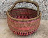 Market Basket African Basket Bolga Market Basket Toy Basket