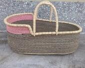 Moses basket Baby bassinet Baby nest Baby Moses basket Infant Lounger Nursery decor Bolga basket Moses Bassinet