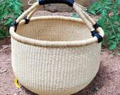 Shopping basket African Market basket Market bag Kids basket Picnic basket Fruit basket Bolga basket Straw bag Makeup organizer