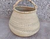 Straw bag Antique Baskets Bolga Market basket Picnic Basket Gift Basket for women