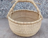 Storage basket African basket Bolga Market Basket Woven basket Straw bag African market basket handmade basket Market Basket