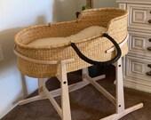 Moses basket Baby bassinet Baby nest Baby Moses basket Expecting mom gift Baby gift basket Baby mobile Kids bed Bed frame