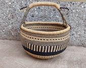 Large Round Bolga Market Basket