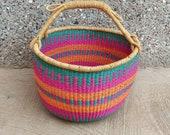 Extra Large Round Bolga Market Basket