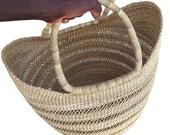 Shopping basket African Market basket Market bag Kids basket Picnic basket Fruit basket Bolga basket Straw bag U shopper