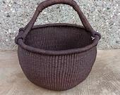 Bolga Market Basket African basket Market basket Picnic basket Fruit basket Bolga basket Straw bag Antique baskets