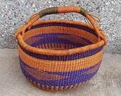 African basket Bolga Market Basket Woven Basket Antique Baskets Picnic Basket Storage Basket Fruit Basket