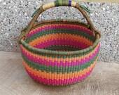 Exra Large Bolga market basket Market Basket African Basket Picnic Basket Storage Basket Handwoven Basket