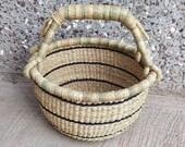 Small Basket Bolga market basket picnic basket Market basket Gift Basket Woven Basket African Basket Fair trade Basket