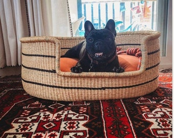 Dog Basket | Dog bed furniture | Personalized Dog Bed | Custom pet bed | Unique pet pet | Ghana Basket