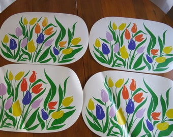 Vintage Tulips Placemat Set of 4