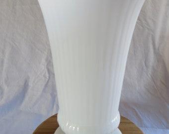 Vintage E.O Brody Milk Glass Vase