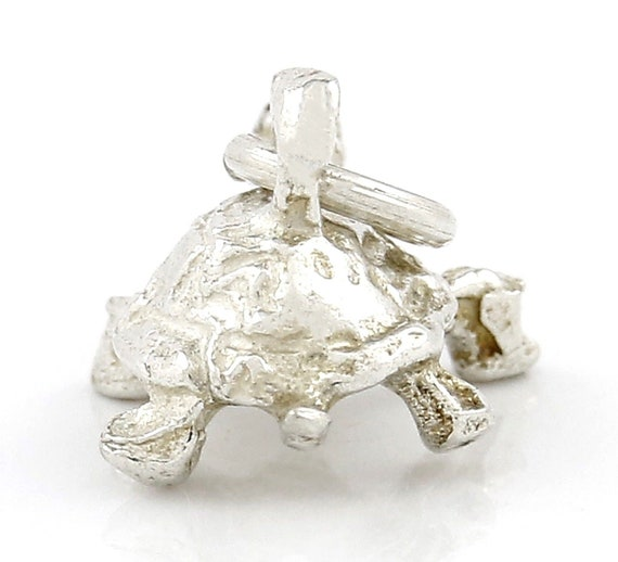 """Solid Turtle .925 Sterling Silver Pendant .75/"""" FREE SHIP"""