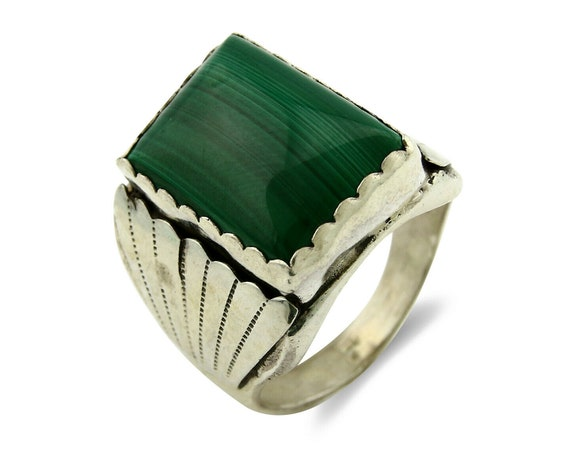 Natural Malachite Ring Boho Ring Malachite Jewelry Christmas Sale Silver Ring Womens Ring Gift for Her Artisan Ring Statement Ring