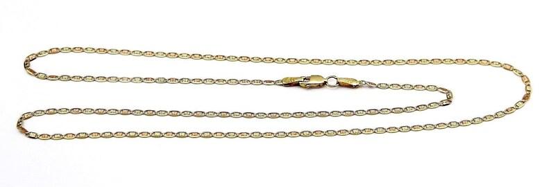 f1a104316308 Cadena de Mujer con Corte de Diamante 1.5 mm de Oro Tri Color