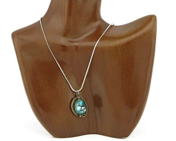 Hopi Handmade .Natural Turquoise Handmade .925 Sil