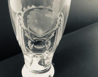 Alien VS Predator Etched Glass