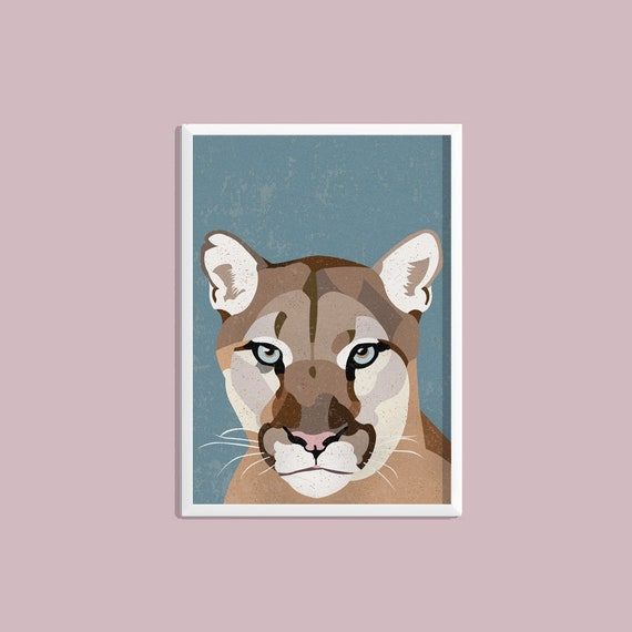 Cougars Wild Cats Wildlife A4 Photo Poster Print ONLY Wall Art