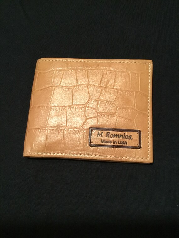 Mens wallet soft leather made in USA  e6e807679ba0