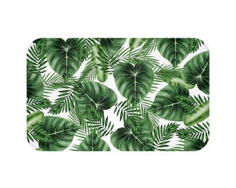 Mix watercolor Leaves Palm Bath Mat Small and Large Choose