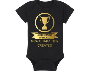 Gaming Baby Onesie® - Achievement Unlocked New Character Created - Online Role Playing Game - RPG