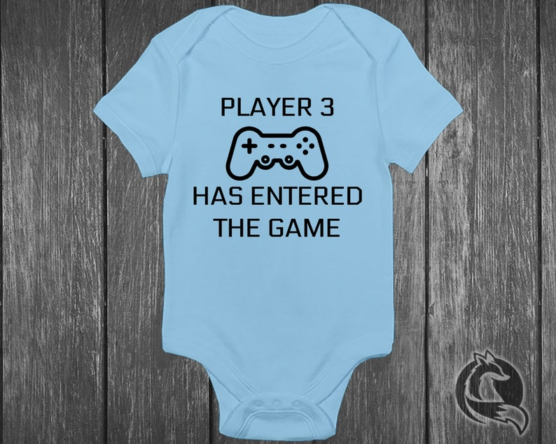43f813dac38 Gaming Baby Onesie® - Player 3 Has Entered The Game - Pregnancy Reveal For  First Child