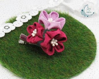 Three plum blossoms hairpin / brooch
