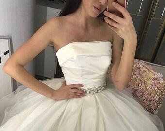 Princess Wedding Dress  • Bridal Ball Gown • Dress with train • Huge Sale!