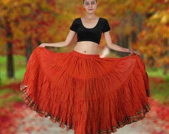 56c921ca0 25 Yard Padma Skirt, Belly Dance Skirt, 25 Yard Skirt, 25 Yard Jodha  Maharani Skirt - Choose Your Color