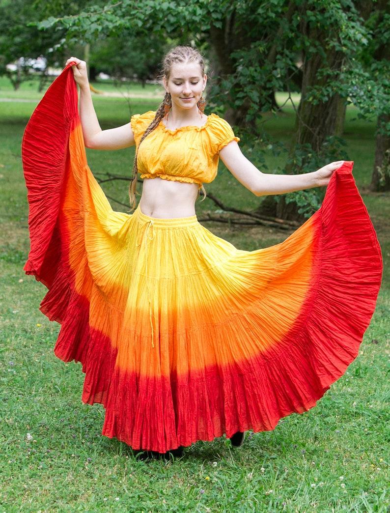 4c8efb98e3 Cotton Belly Dance Costume Gypsy Flamenco 25 Yard 4 Tiered | Etsy