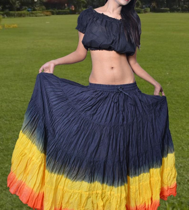 247b6258f0 12 Yard ATS Tribal Gypsy Skirt UK Belly Dance By Wevez | Etsy
