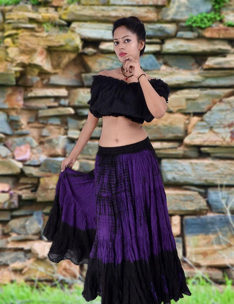 f68eb5a05 25 Yard Skirt Gypsy Tribal Cotton Skirts Belly Dance Dancing   Etsy