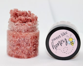 Organic Lip Scrub | Edible Lip Polish | Vegan Lip Scrub | Sugar Scrub | Sweet Like Honey