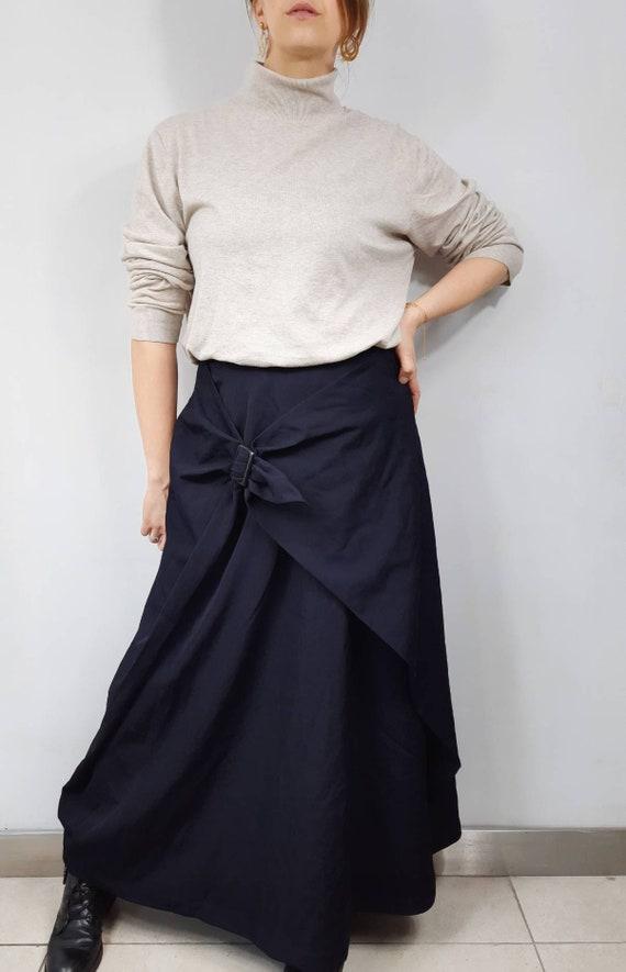 Vintage maxi skirt. Vintage wool skirt.