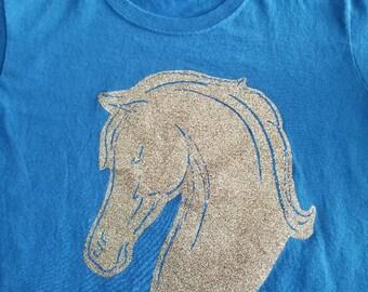 Multi Platnum Non Weeded Horse Head on blue