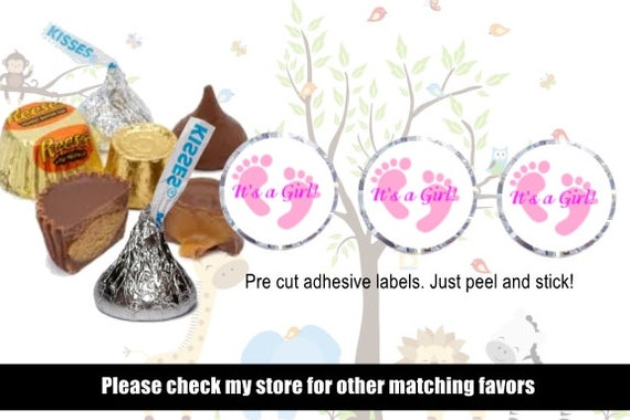 30 blue baby feet Hershey Nugget Wrappers,shower favors,stickers,labels,boy