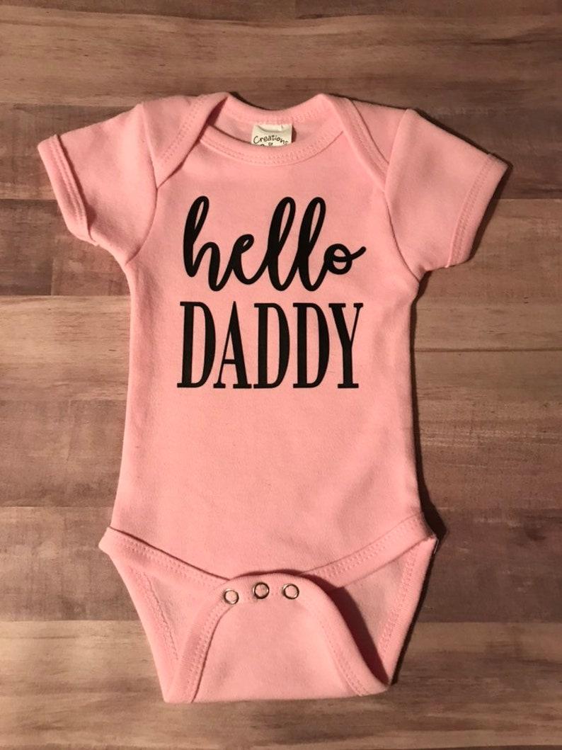 Hello Daddy onesie