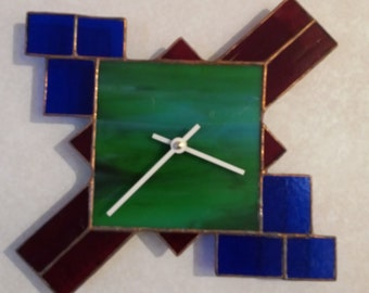 Stained Glass Mosaic Clock