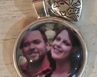 Handmade memorial photo necklaces