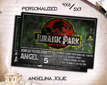 Jurassic World,Jurassic World Invitation,Jurassic World Printable,Jurassic World Card,Jurassic World Birthday,Jurassic World Party,Jurassic