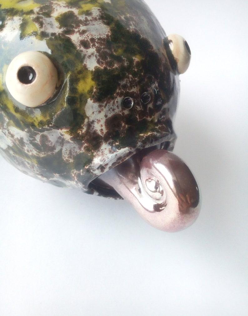 Casket ceramics-Dragon sculpture pottery-Tea box ceramic-Dinosaur trinket box-Pokemon jewelry box-Ceramicsea-Shiny pottery-Spiral ceramic