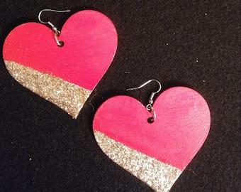 Red Glittered Heart