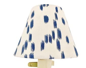 Custom Night Light - Blue Night Light - Les Touches Night Light - Brunschwig & Fils - Animal Print Night Light - Blue Nightlight-wall decor