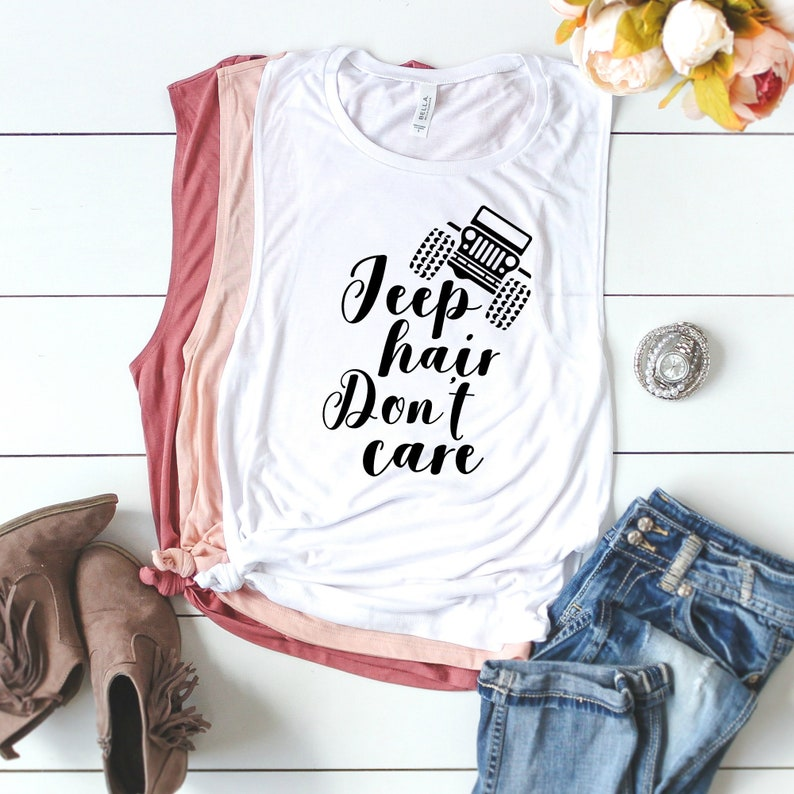 Jeep Hair Dont Care Short Sleeves Tshirts Baby Girls